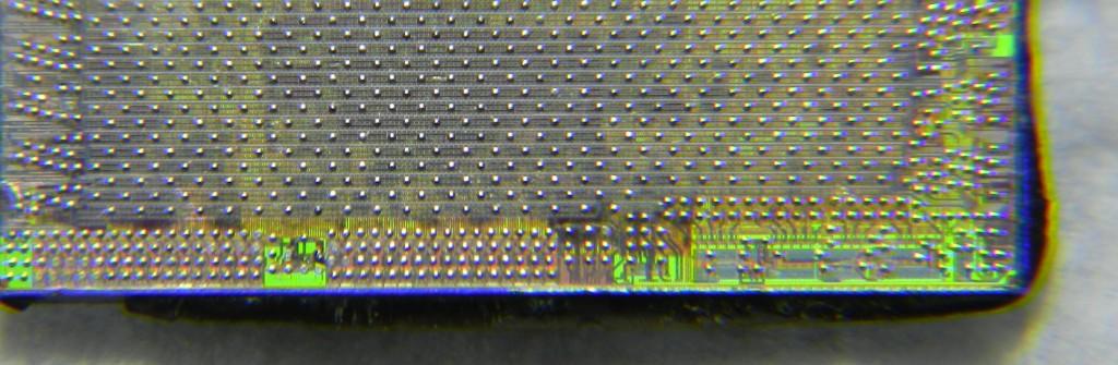 Pastila siliciu la microscop
